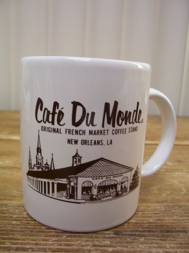 cafe du monde original french market coffee stand cup mug new orleans louisiana ebay. Black Bedroom Furniture Sets. Home Design Ideas