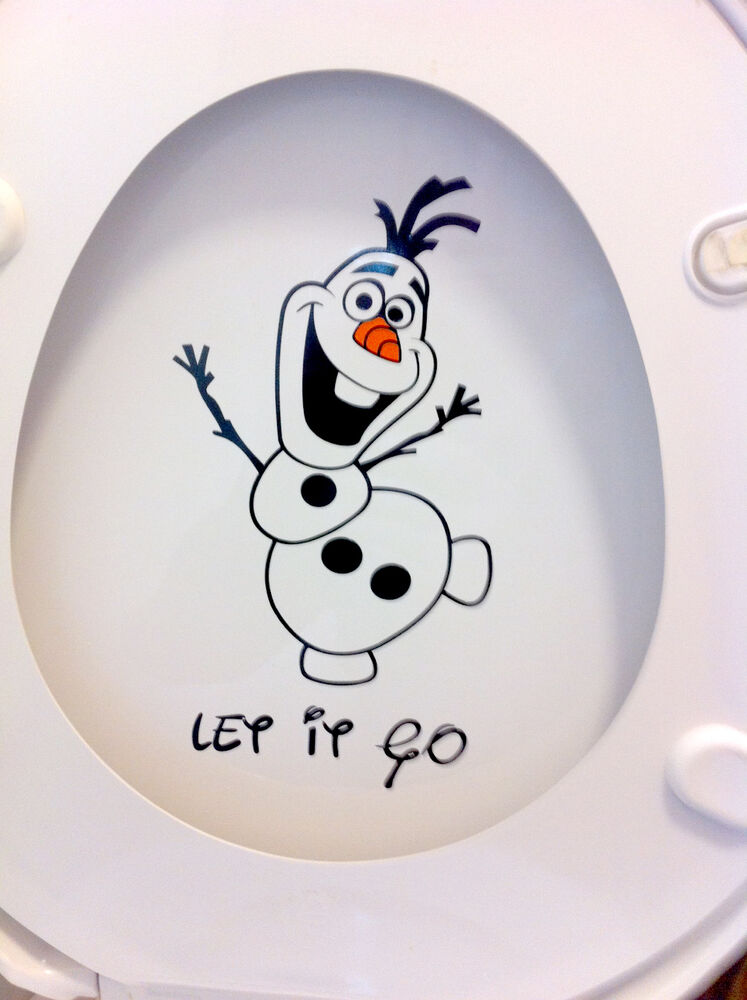Frozens Olaf Style Toilet Seat Sticker Fun Decal Vinyl