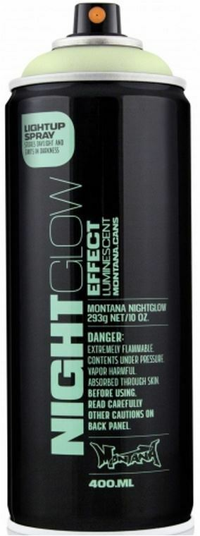 montana nightglow glow in the dark spray paint 400ml ebay. Black Bedroom Furniture Sets. Home Design Ideas