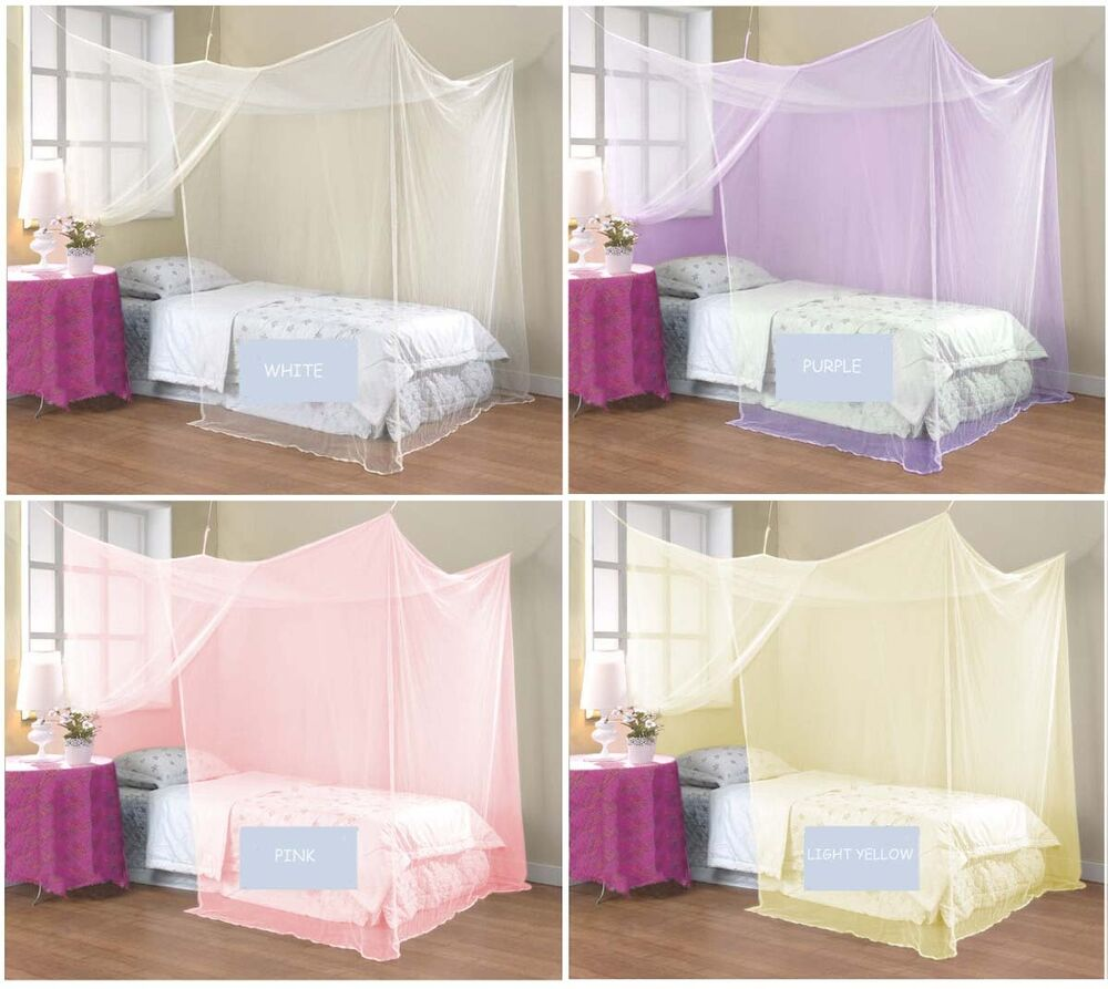 4 four corner post bed canopy mosquito net twin queen king