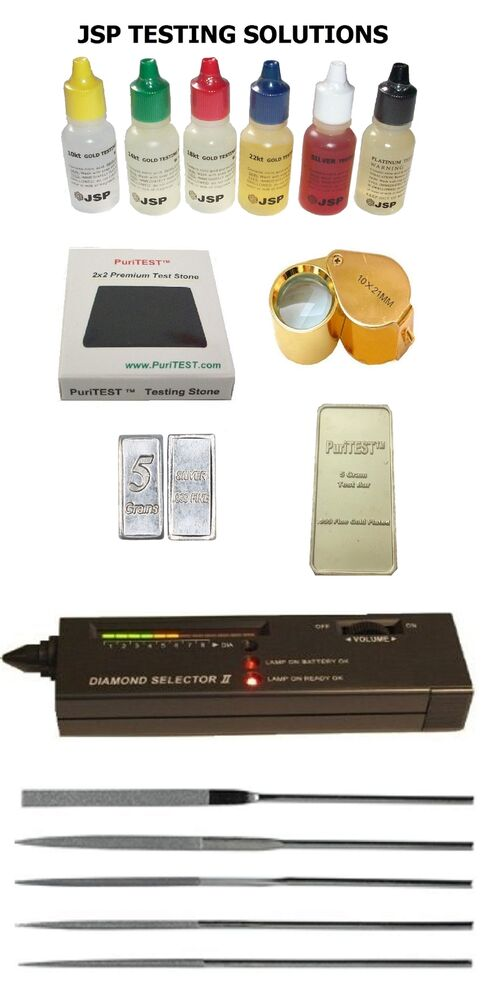 Gold And Silver Tester : Gold silver test kit diamond tester for testing scrap