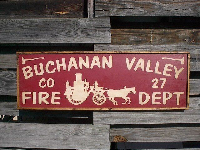 personalized fire department station name rustic vintage