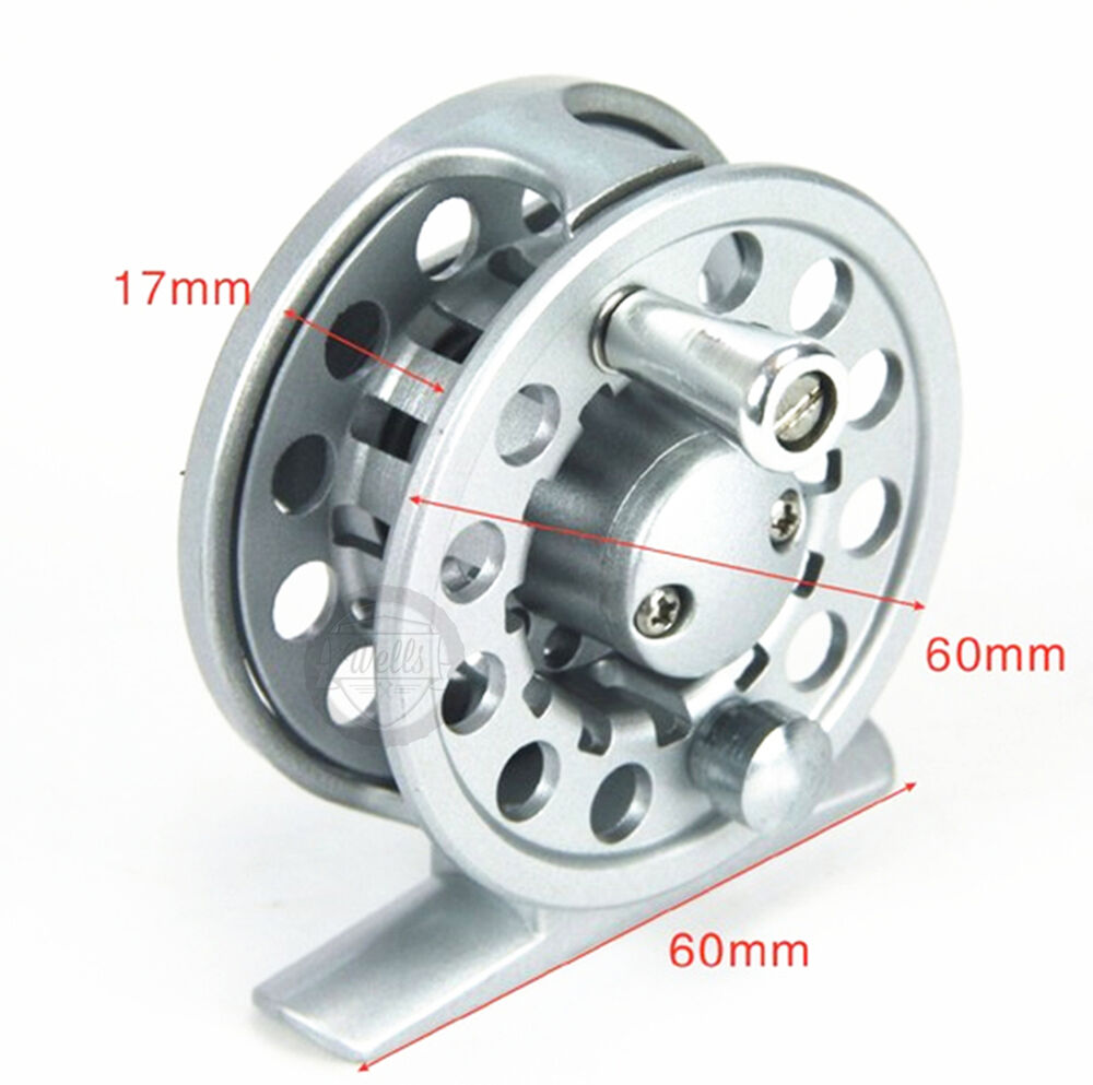 Aluminium trout fly fishing reel line spool 60mm 2 3 wt for Left handed fishing reels