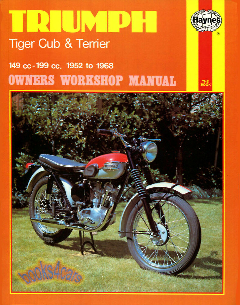 Shop Manual Triumph Service Repair Book Tiger Cub Terrier