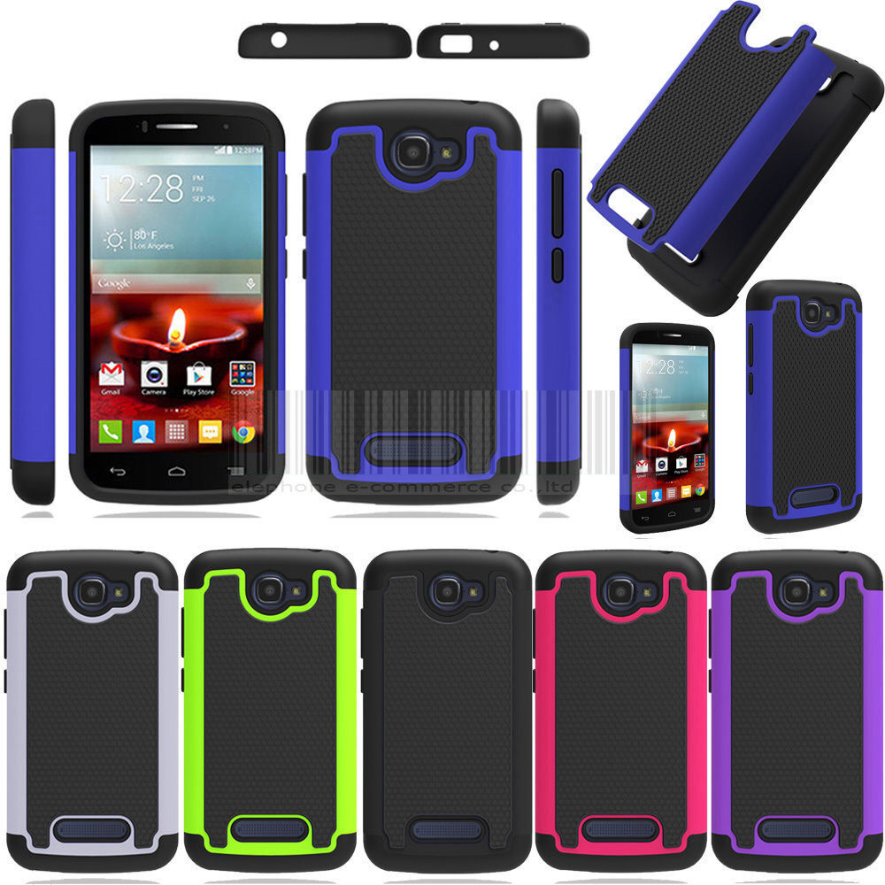 Rugged Hybrid Armor Hard Phone Case Cover For Alcatel One Touch Pop ...
