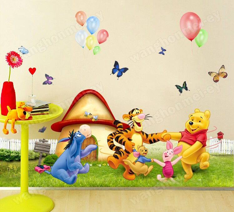 Winnie The Pooh Wall Art Decal Removable Nursery Stickers Decor Ca
