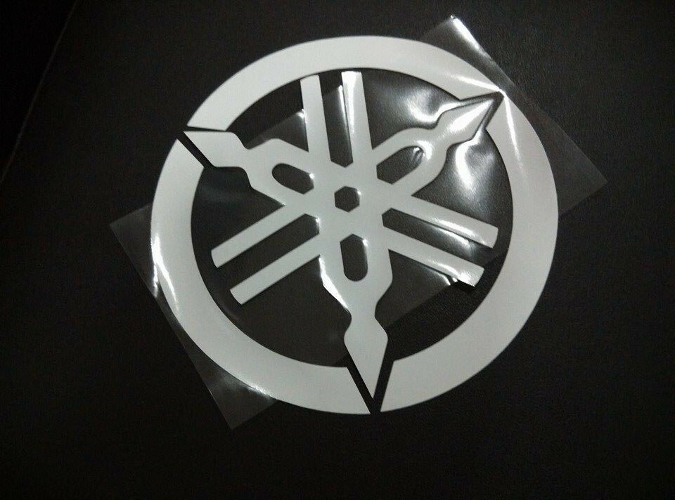 yamaha logo sticker vinyl write color 190mm ebay