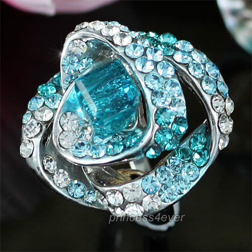 Mystic topaz heart rings