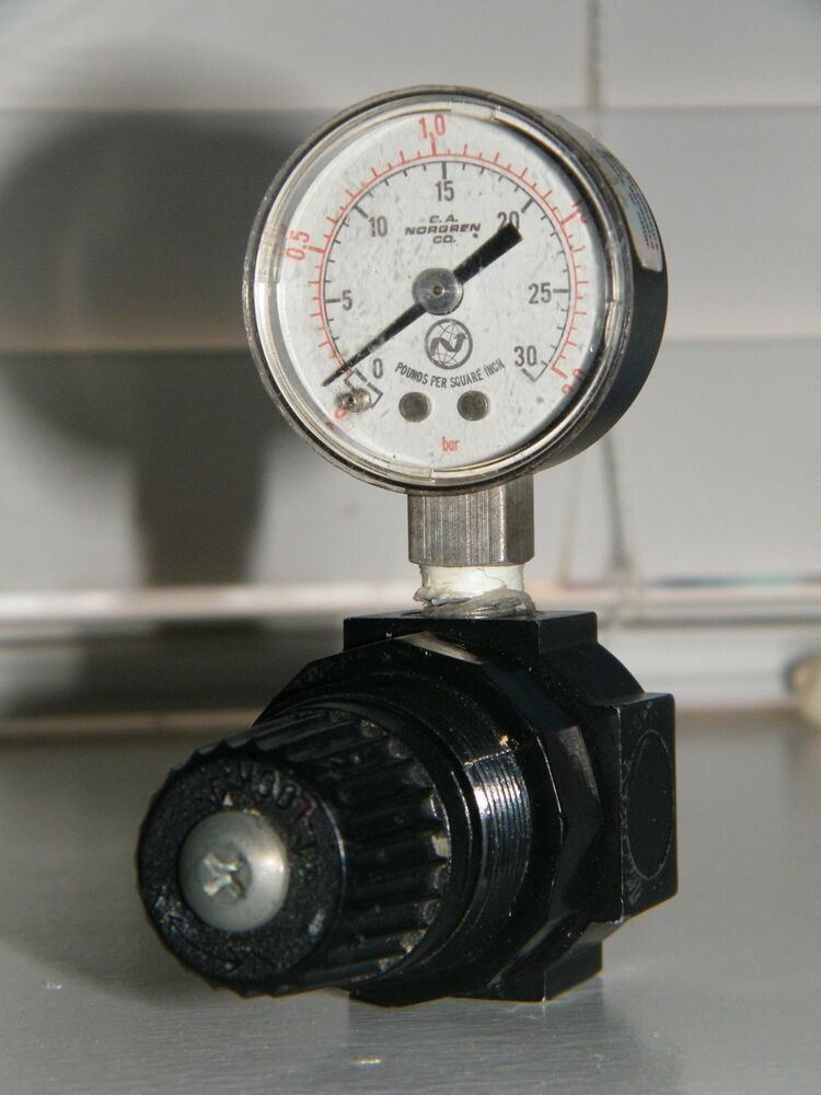 norgren pressure regulator valve with gauge model number 2002 ebay. Black Bedroom Furniture Sets. Home Design Ideas