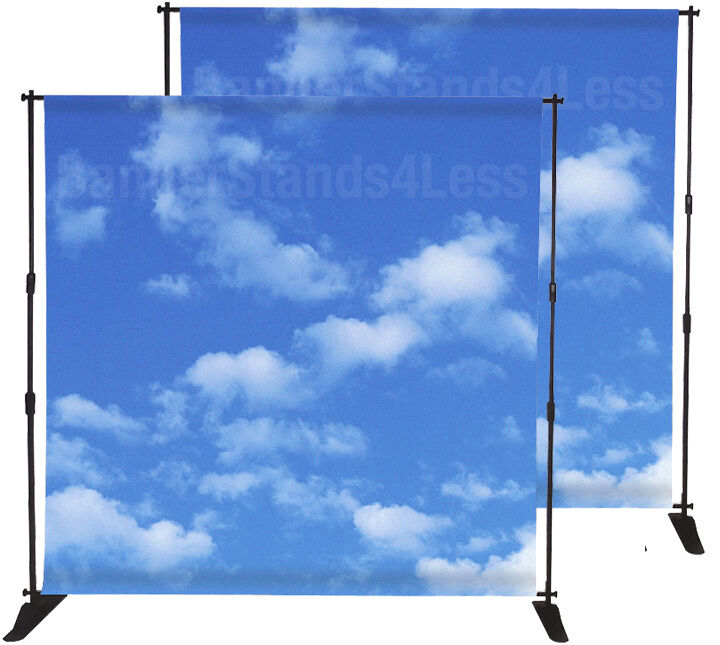 2 Pack 8x10 Step And Repeat Backdrop Banner Stand