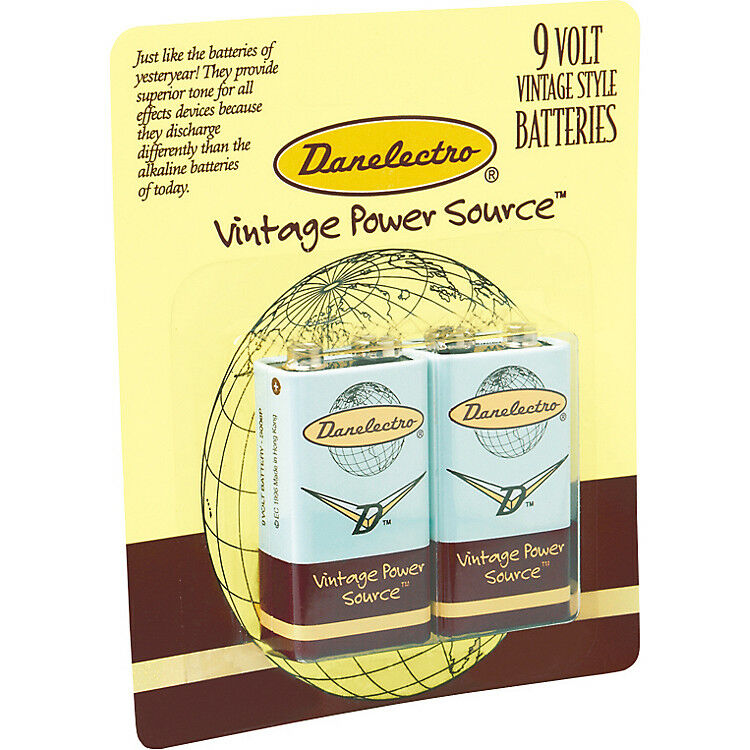 danelectro db 2pk 9 volt batteries for guitar effects pedals 2 pack ebay. Black Bedroom Furniture Sets. Home Design Ideas