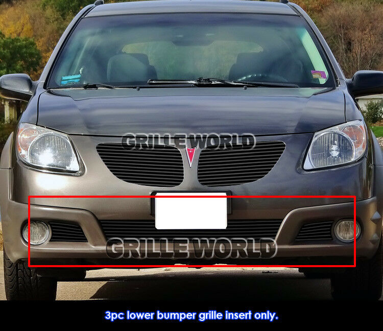 fits 2005 2006 pontiac vibe black bumper billet grille. Black Bedroom Furniture Sets. Home Design Ideas