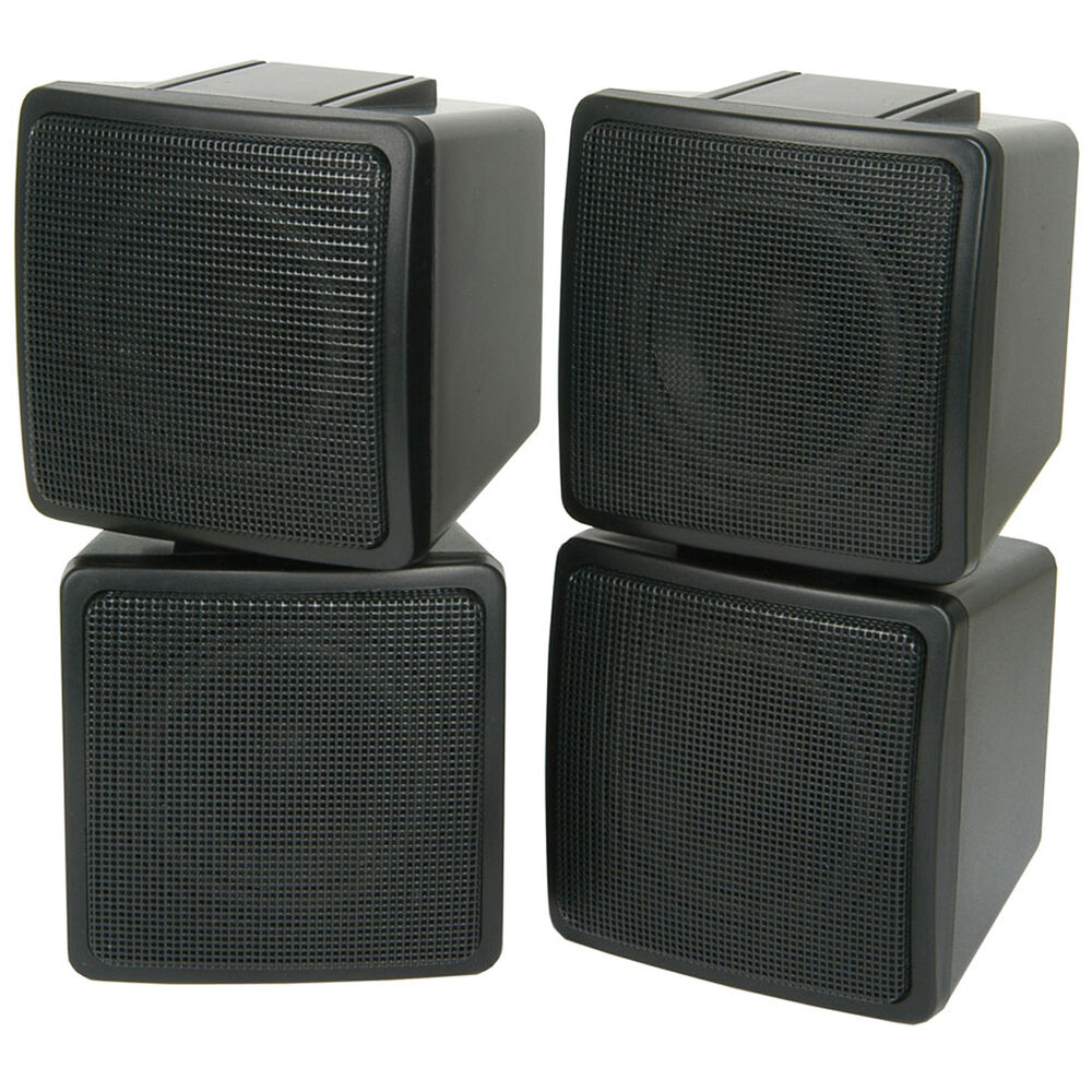 pair of compact 3 satellite corner speakers 100w 8ohm. Black Bedroom Furniture Sets. Home Design Ideas