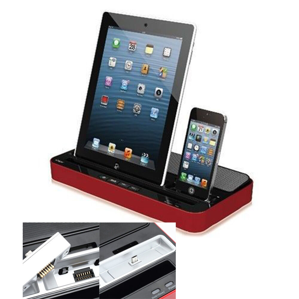 ipega charger speaker dual docking station for iphone 5. Black Bedroom Furniture Sets. Home Design Ideas