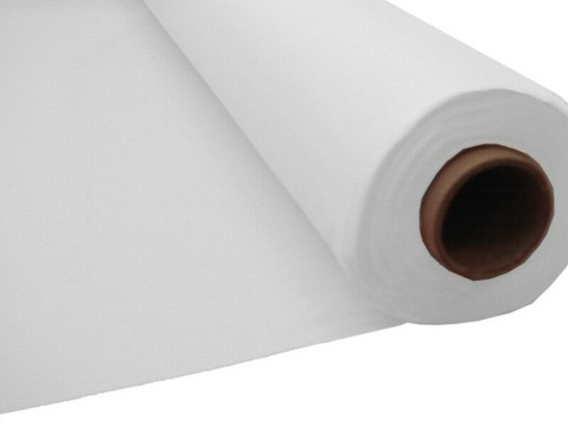 100ft White Plastic Banquet Roll Table Cover Buffet Ebay