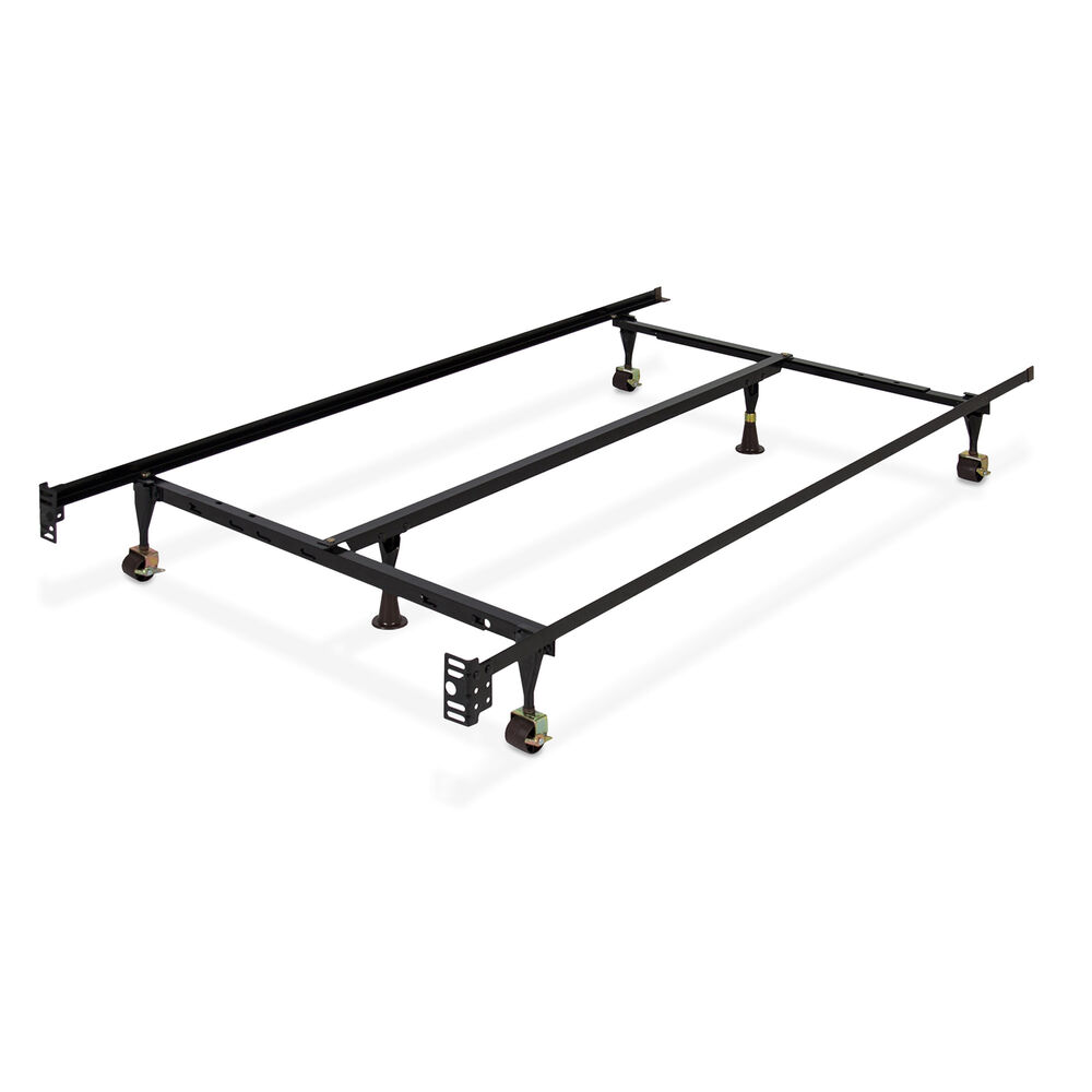 Adjustable Full Queen Bed Frame : Metal bed frame adjustable queen full twin size w center