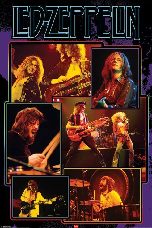 Led Zeppelin Collage Image Refrigerator / Tool Box Magnet ...