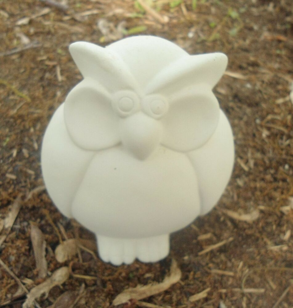 Latex only owl mold plaster concrete cement mould ornament for Concrete craft molds