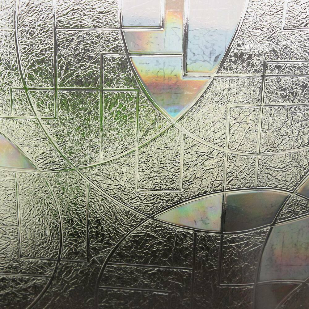 90x50cm 3d Static Cling Home Window Film Stained Glass