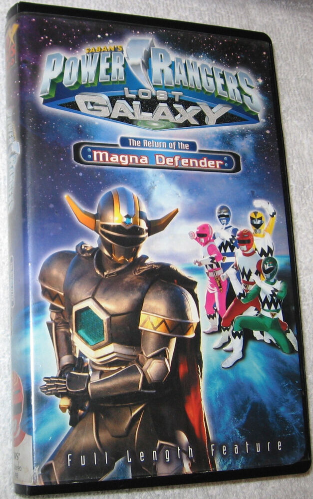 Power Rangers Lost Galaxy The Return of Magna Defender VHS ...Power Rangers Lost Galaxy Magna Defender Vhs