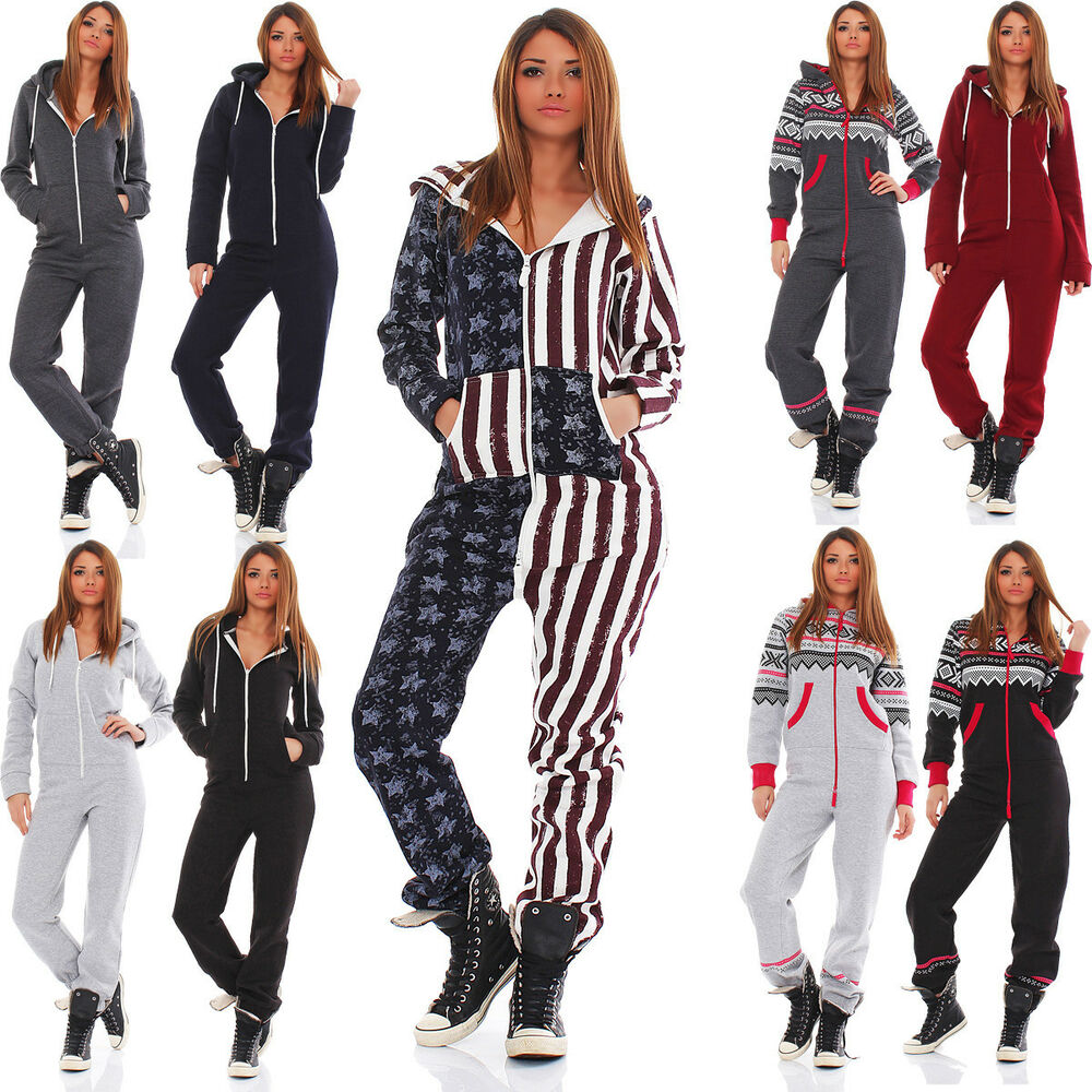 damen jumpsuit overall hausanzug freizeitanzug jogginganzug einteiler sport ebay. Black Bedroom Furniture Sets. Home Design Ideas