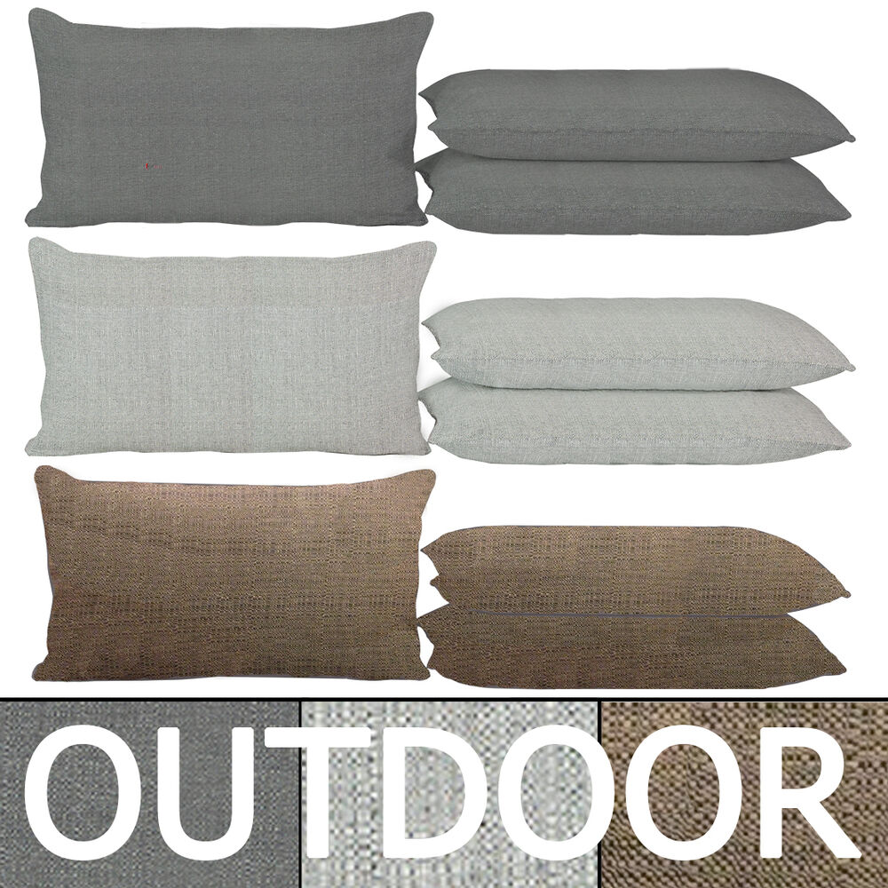 Outdoor sitzkissen 30x50cm grau anthrazit taupe braun for Loungemobel outdoor kissen