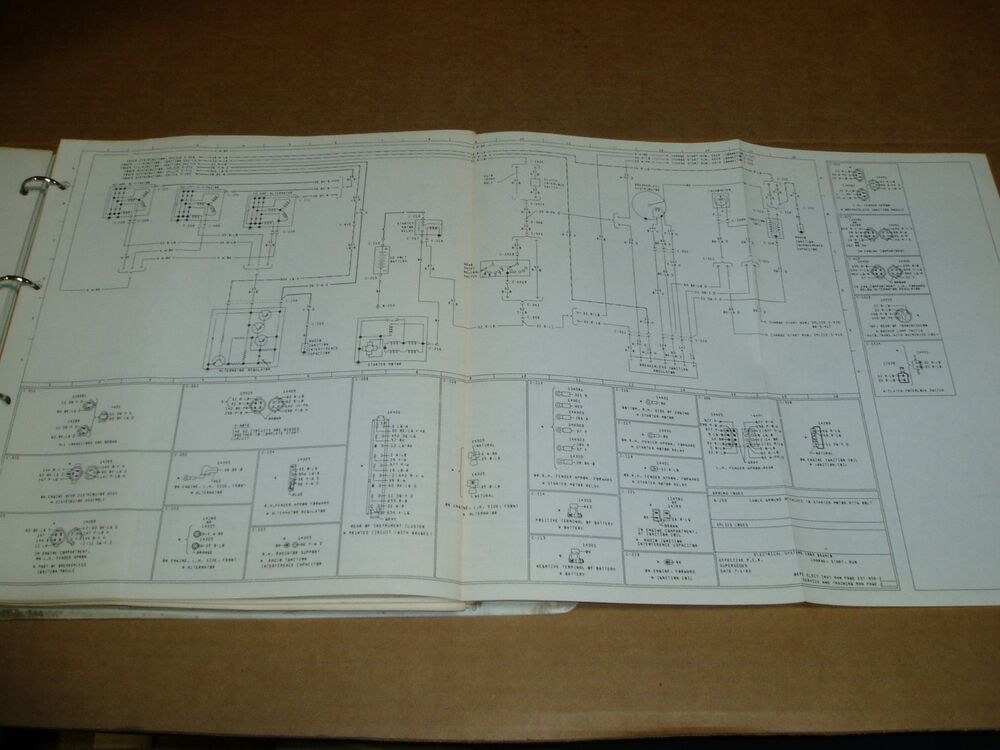 1985 Ford Cl9000 Truck Wiring Diagram Schematic Sheet