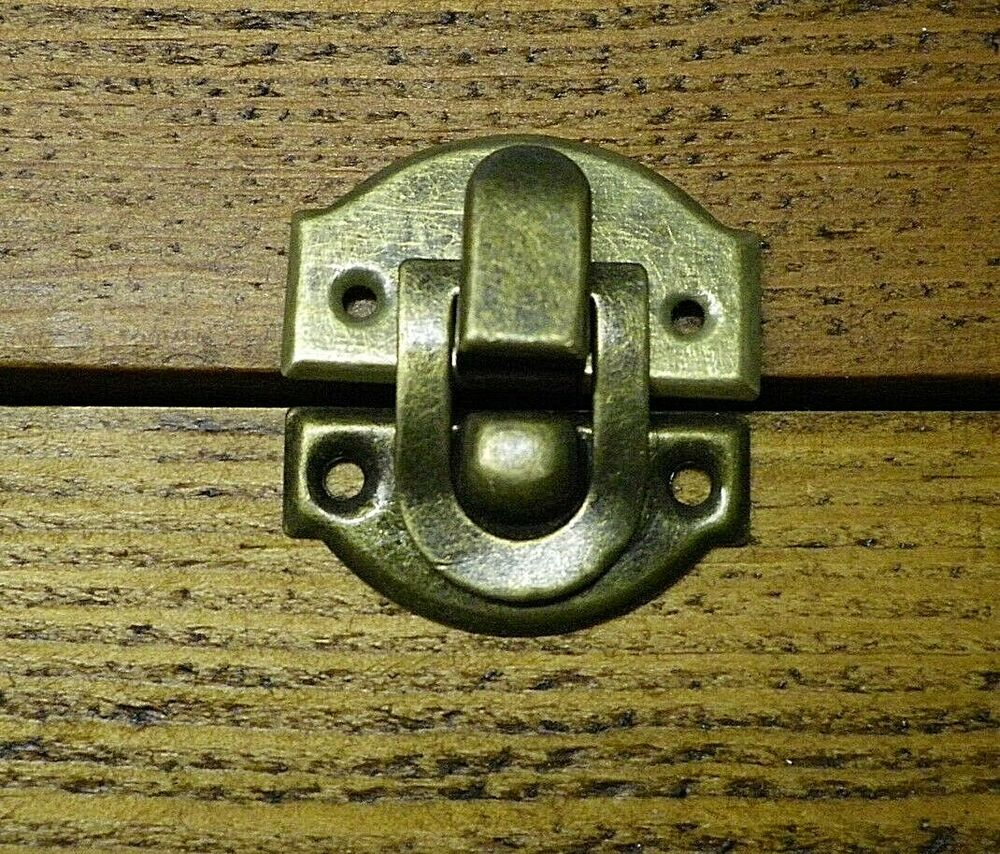 New Pair Of Metal Buckles Catches Latches For Small Box