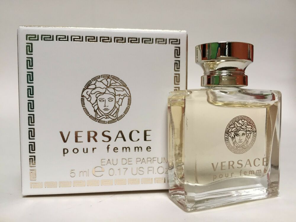 versace pour femme perfume mini edt splash for women new in box try scent ebay. Black Bedroom Furniture Sets. Home Design Ideas