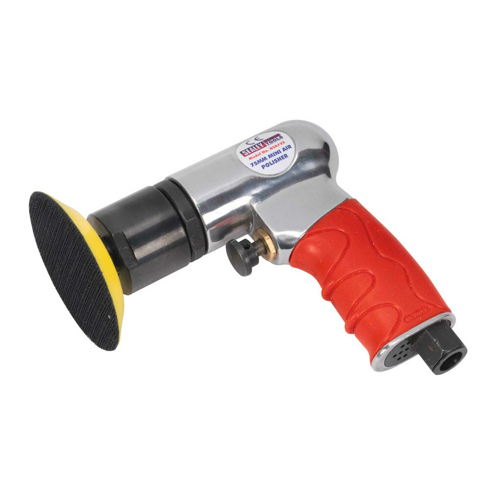 "Sealey Car/Auto Air Polisher 75mm/3"" Mini Buffer/Buffing"