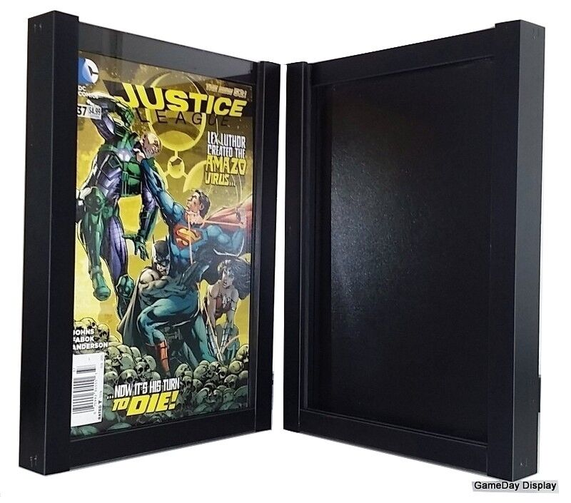 comic book display frame case shadow box black magazine lot of 2 a ebay