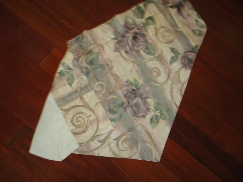 ... Chambord Cassis Ascot Valance Floral Amethyst Green 23 x 38 | eBay