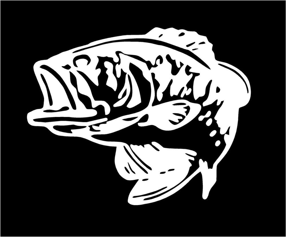 Bass fishing decals for Fishing stickers for trucks