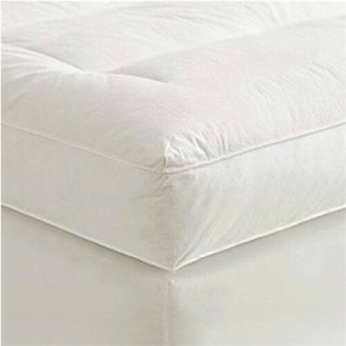 "4"" King Goose Down Mattress Topper Featherbed Feather"