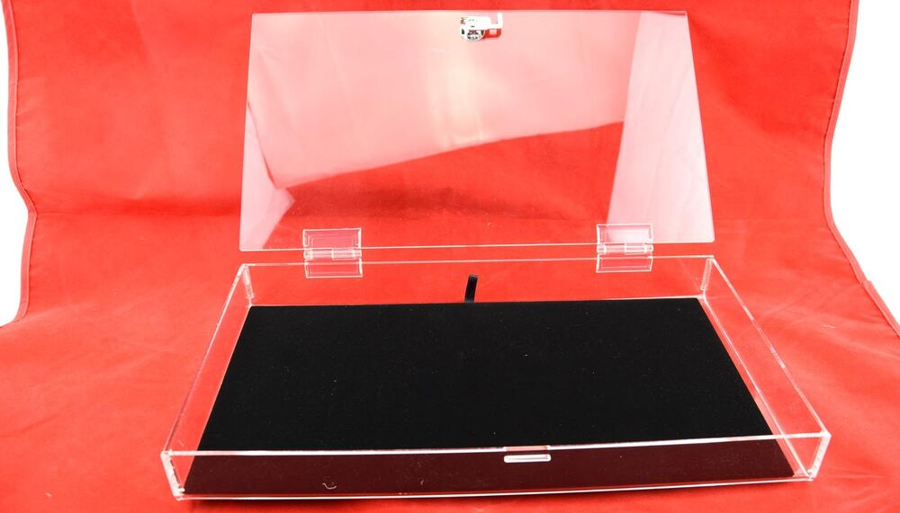 Full Size Clear Acrylic Box Case With Lock Amp Black Velvet