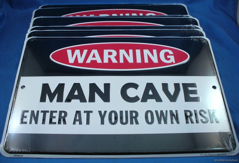 Man Cave Usa : Wholesale lot of warning man cave enter at your own