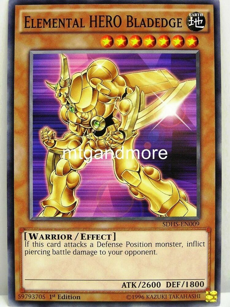 yu gi oh 1x elemental hero bladedge sdhs structure. Black Bedroom Furniture Sets. Home Design Ideas