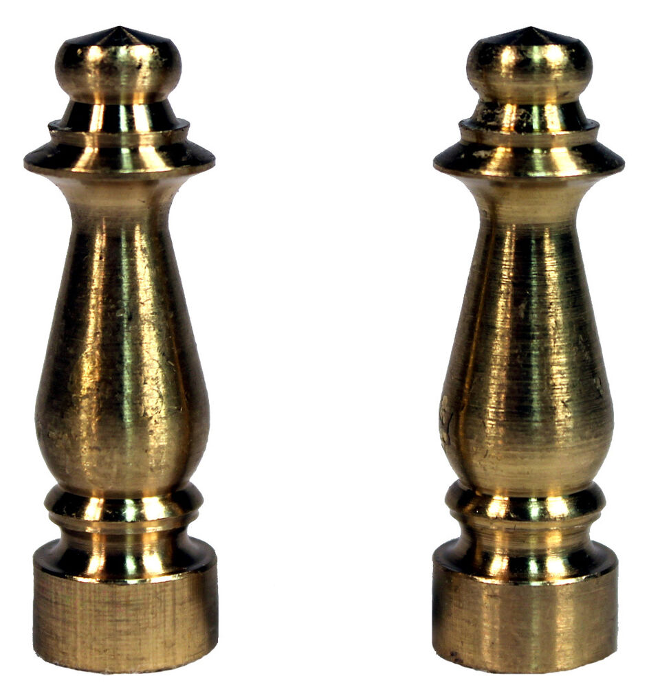 Solid Brass Lamp Shade Finial Ely1465 1 5 Quot Tall Brass