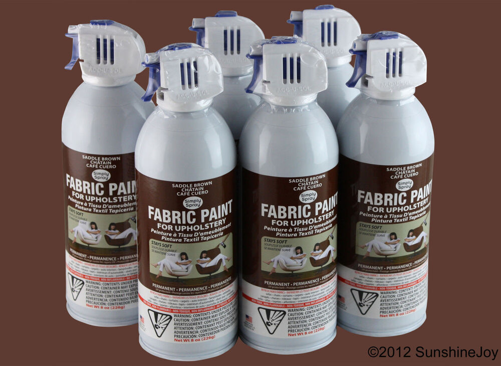 upholstery fabric spray paint 6 pack brown car auto rv simply spray ebay. Black Bedroom Furniture Sets. Home Design Ideas