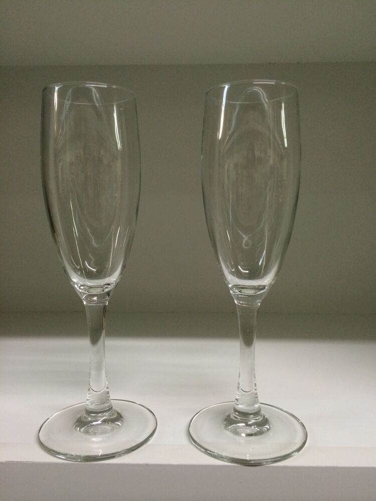 Crystal clear fluted classic toasting flutes champagne wine glasses ebay - Fluted wine glasses ...