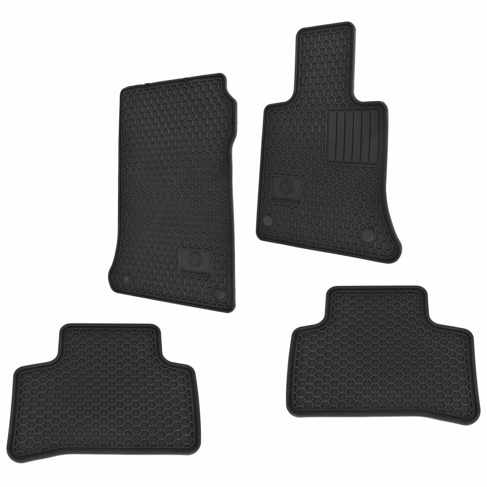 all season black rubber floor mat set for 10 14 mercedes benz ebay. Cars Review. Best American Auto & Cars Review
