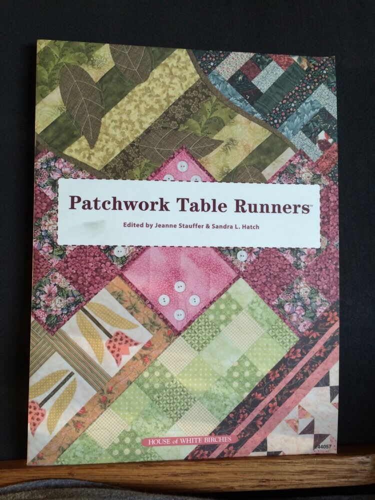 Patchwork Book Cover Pattern : Patchwork table runners book quilting patterns quilt