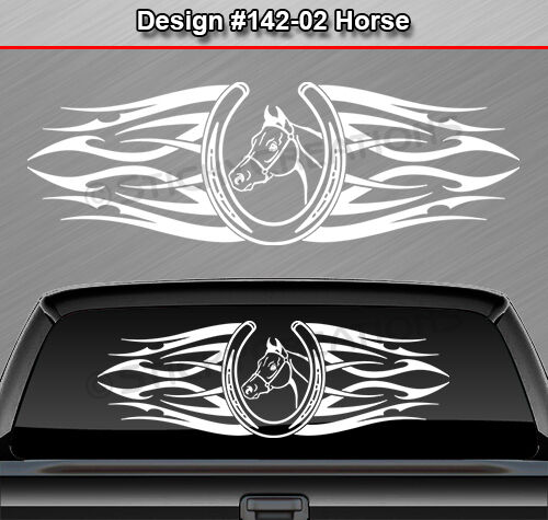 Design 142 02 Horse Horseshoe Back Window Decal Sticker