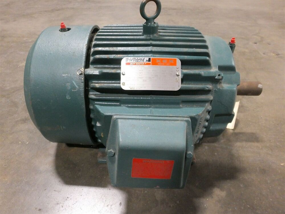 Reliance electric p21g3392 9 motor 7 5hp 1765rpm 18 8 9 for 7 5 hp 3 phase motor