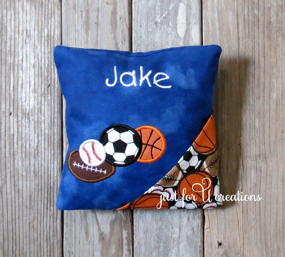 Boy S Personalized Embroidered Sports Balls Design Tooth