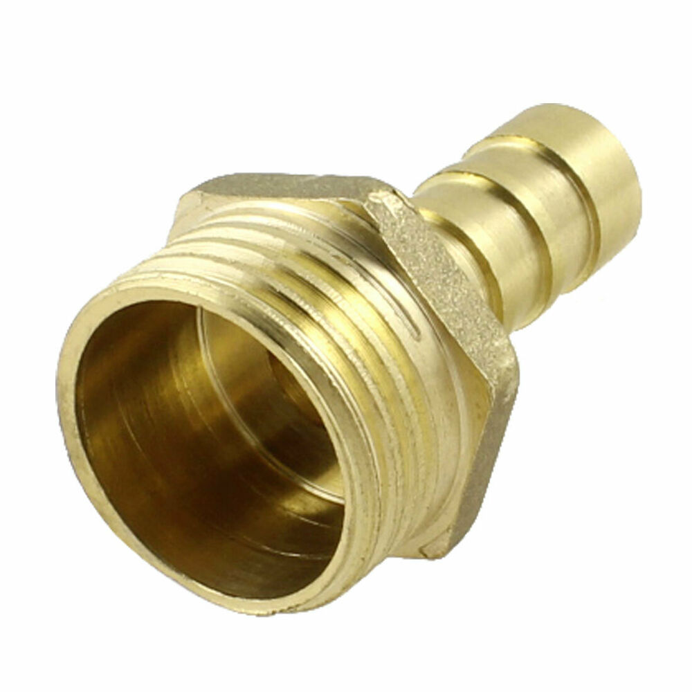 Quot npt thread mm air pneumatic hose barb fitting brass