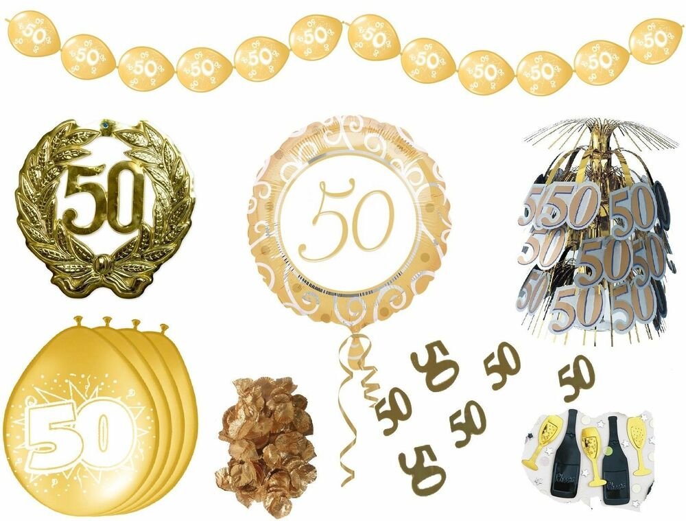 deko goldhochzeit goldene hochzeit 50 jahre jubil um servietten ballons banner ebay. Black Bedroom Furniture Sets. Home Design Ideas