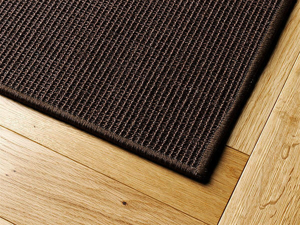 sisal teppich umkettelt dunkel braun 90x160cm 100 sisal ebay. Black Bedroom Furniture Sets. Home Design Ideas