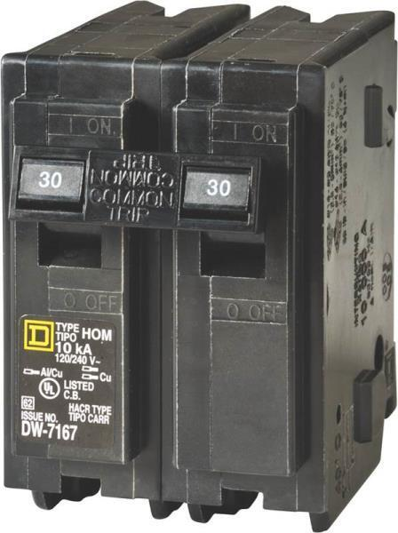 square d fuse box latch dual square d fuse box new square d hom230cp homeline 30 amp double pole circuit ... #5