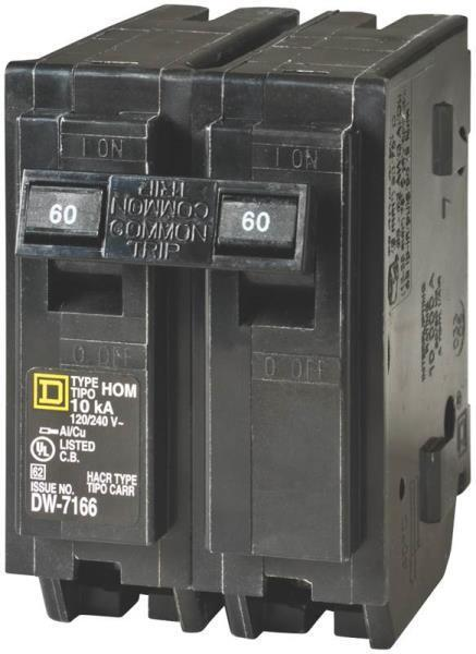 new square d hom260cp homeline 60 amp double pole circuit ... square d breaker box wiring diagram dual square d fuse box